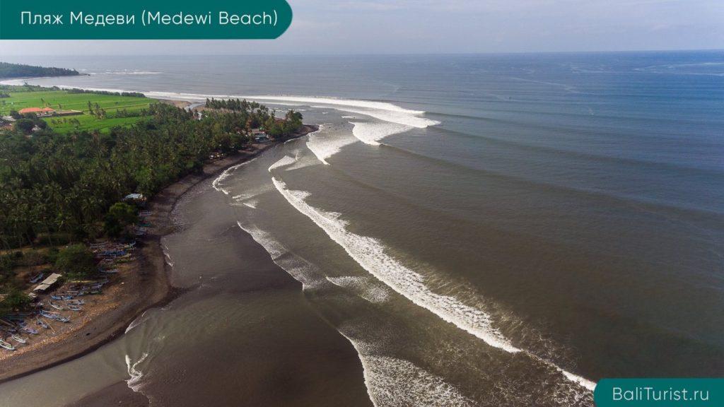 Основная информация о пляже Медеви