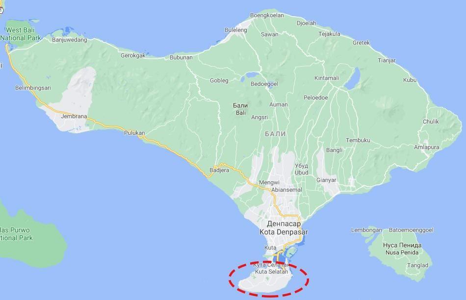 Пляжи на полуострове Букит на Бали