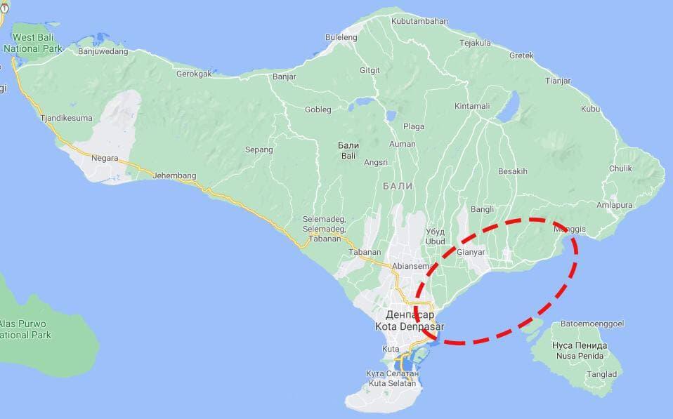 Пляжи на юго-восточном побережье острова Бали