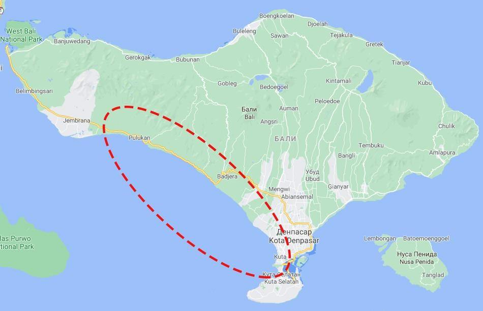 Пляжи на юго-западном побережье Бали