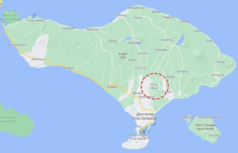 Пляжи в районе Убуда на Бали