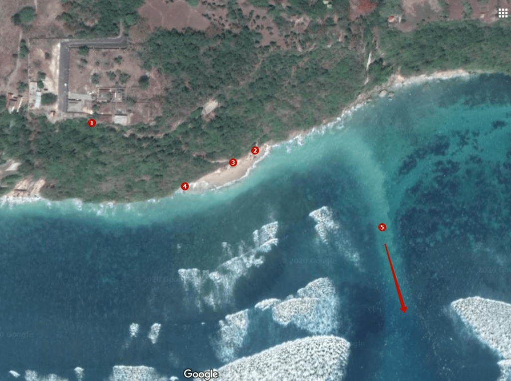 Постоянные течения на пляже Грин Боул на Бали