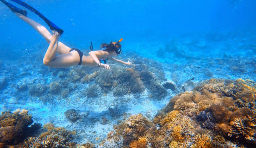 Заниматься снорклингом лучше всего в северной части Бали в море