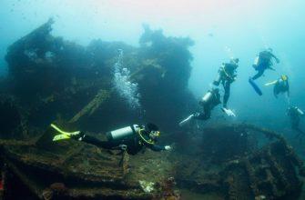 Затонувшее судно Либерти на Бали в Туламбене