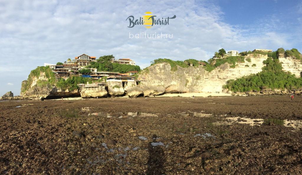 Пляж Сулубан во время отлива